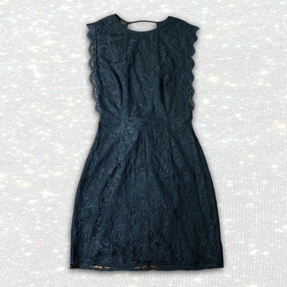 KIMICHI BLUE Black Lace Dress with Open Back